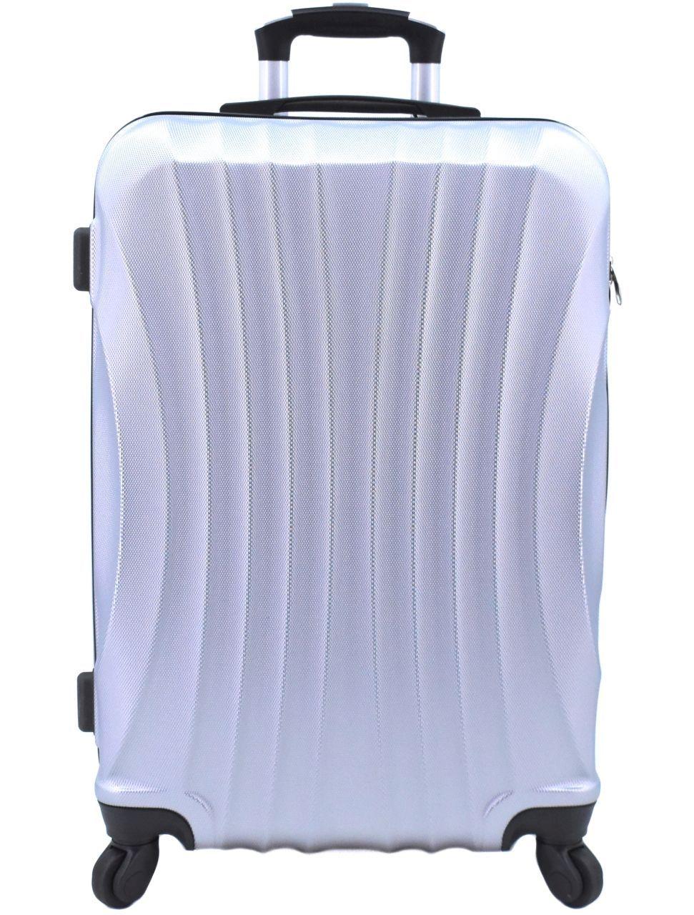 Cestovní skořepina kufr na čtyřech kolečkách Arteddy - (M) 60l stříbrná 6020 (M)