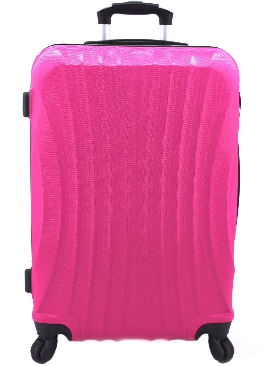 Cestovní skořepina kufr na čtyřech kolečkách Arteddy - (M) 60l fuxia 6020 (M)