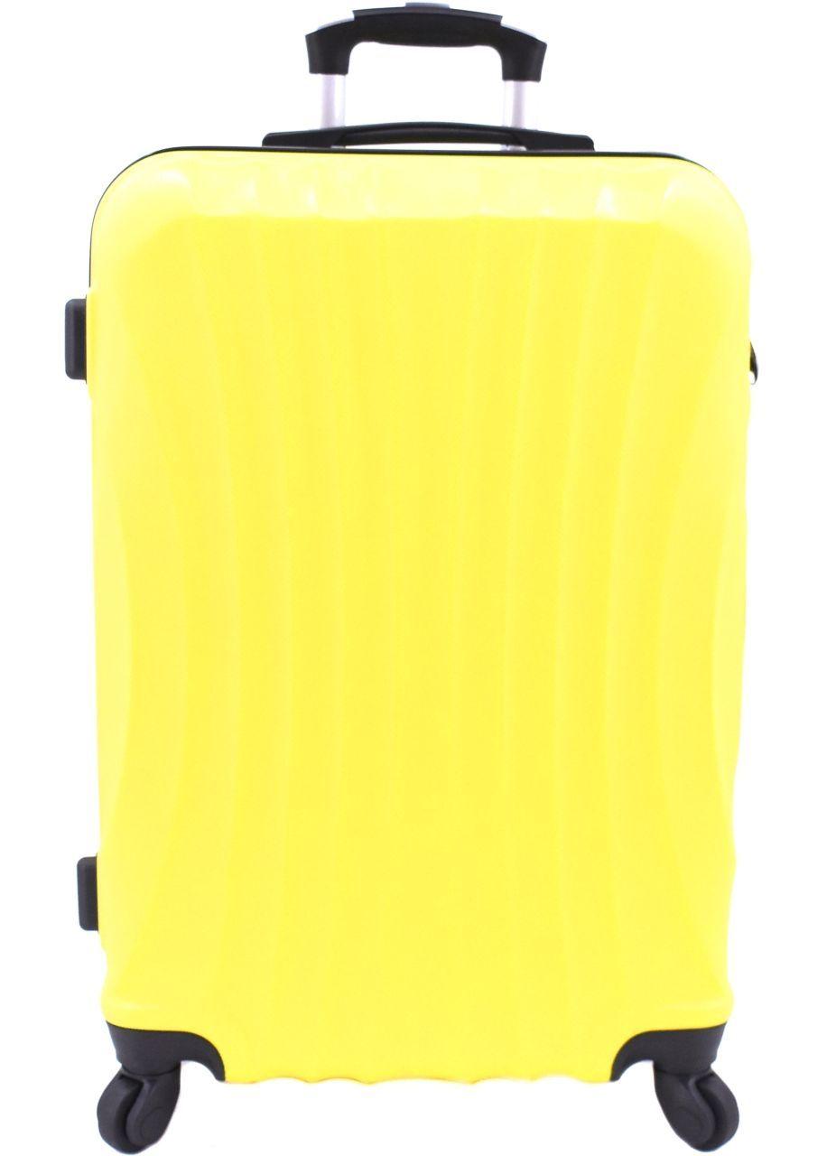 Cestovní skořepina kufr na čtyřech kolečkách Arteddy - (L) 90l žlutá 6020 (L)