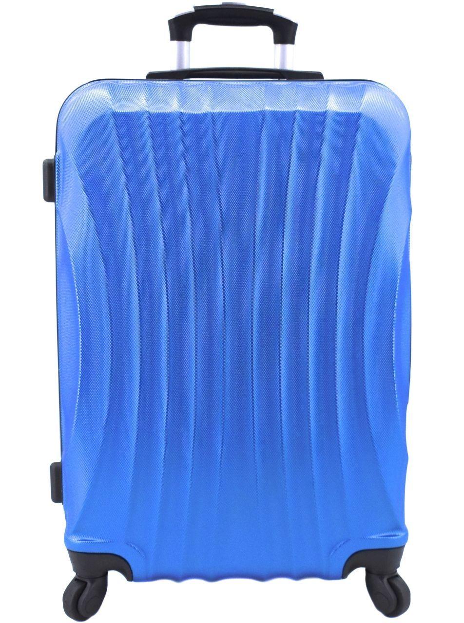 Cestovní skořepina kufr na čtyřech kolečkách Arteddy - (L) 90l modrá 6020 (L)