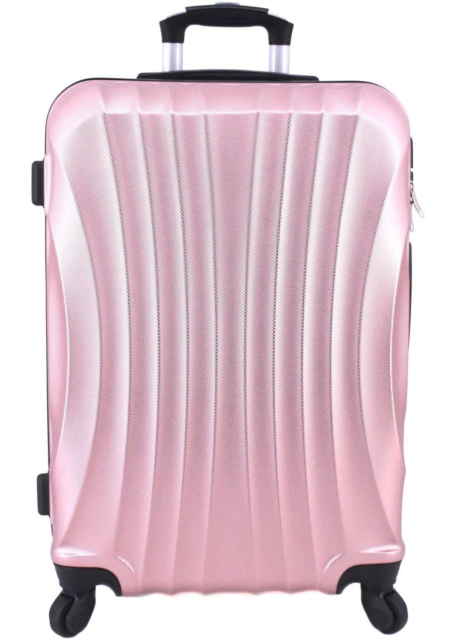 Cestovní skořepina kufr na čtyřech kolečkách Arteddy - (L) 90l světle růžová 6020 (L)