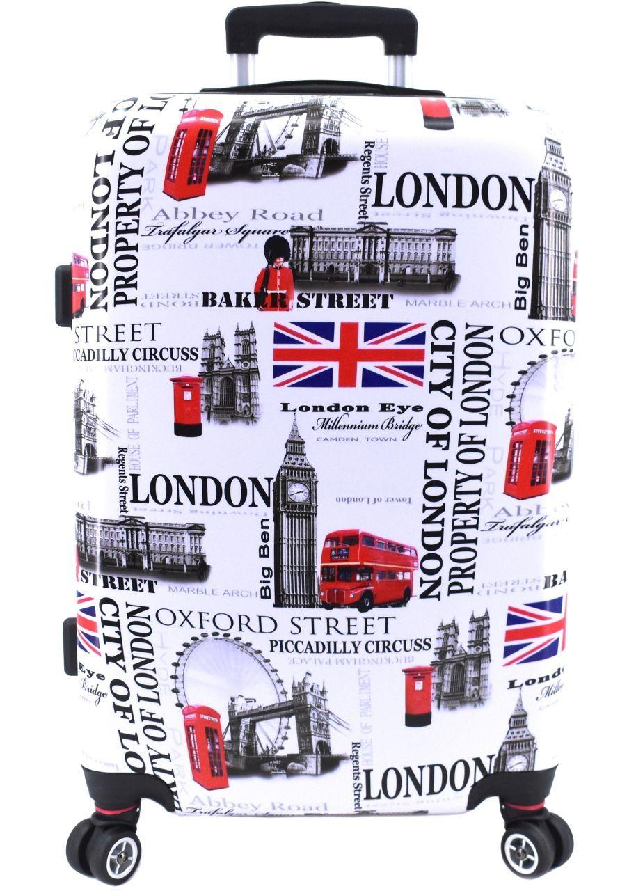 Cestovní kufr skořepinový na čtyřech kolečkách Arteddy -  Meter Flag (L) 100l