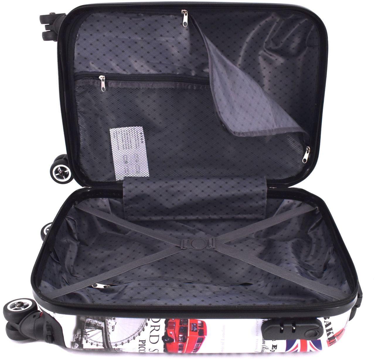 Cestovní palubní kufr skořepinový na čtyřech kolečkách Arteddy - Meter Flag 30l (XS)