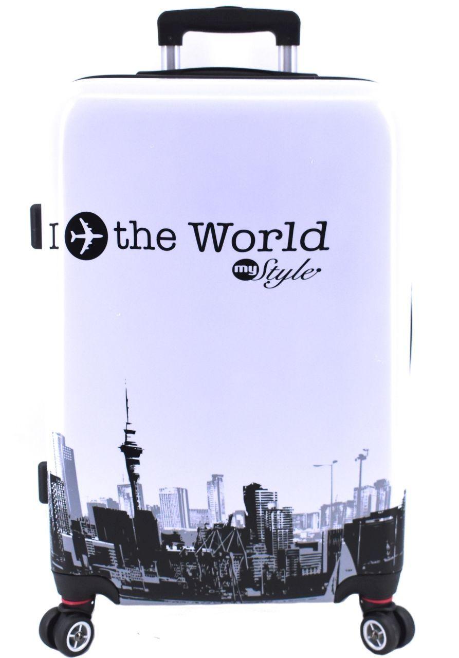 Cestovní kufr skořepinový na čtyřech kolečkách Arteddy - In the World (M) 70l 1191In the World (M)