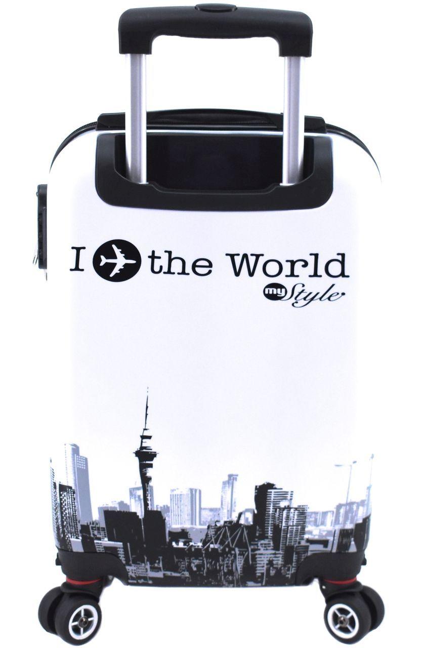 Cestovní  palubní kufr skořepinový na čtyřech kolečkách Arteddy - In the World 30l (XS)