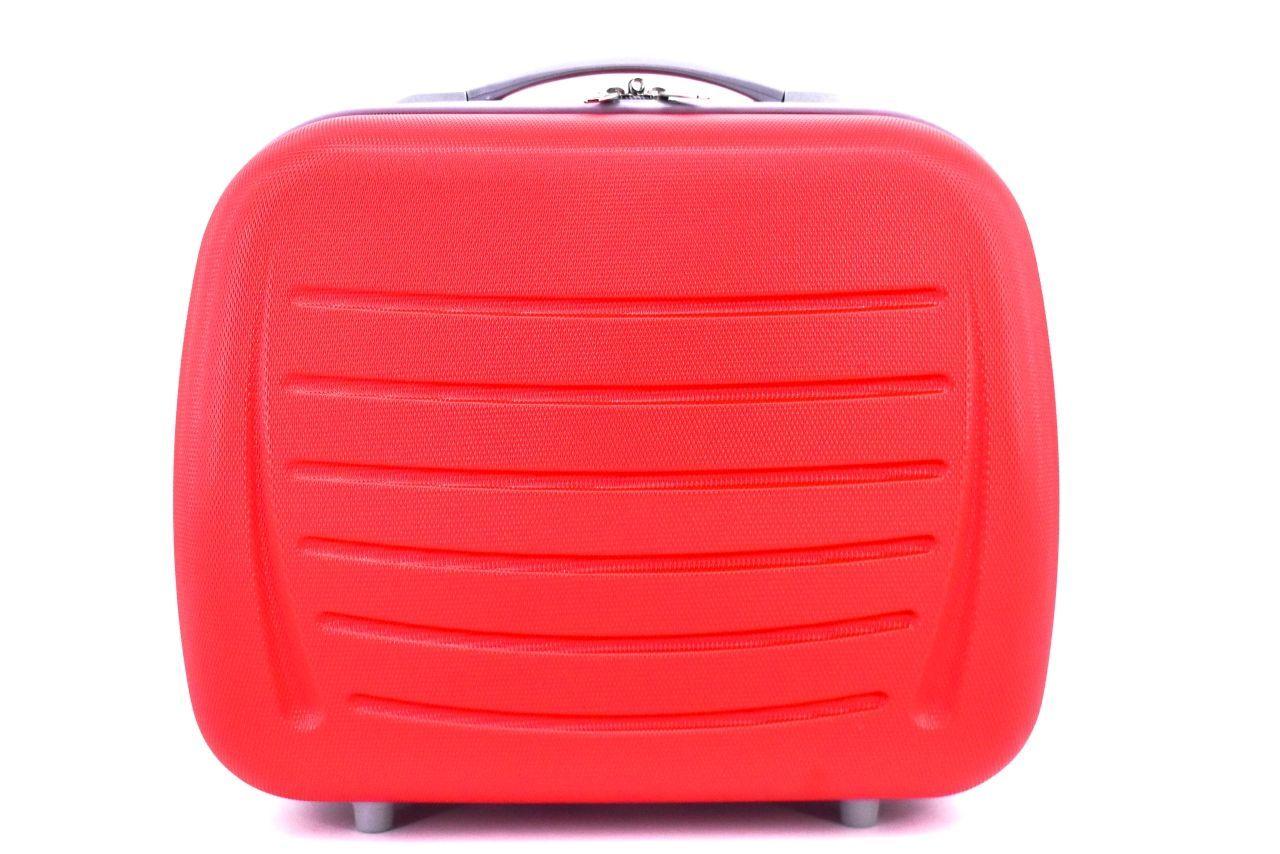 Kosmetický palubní příruční kufr Arteddy - červená 40877
