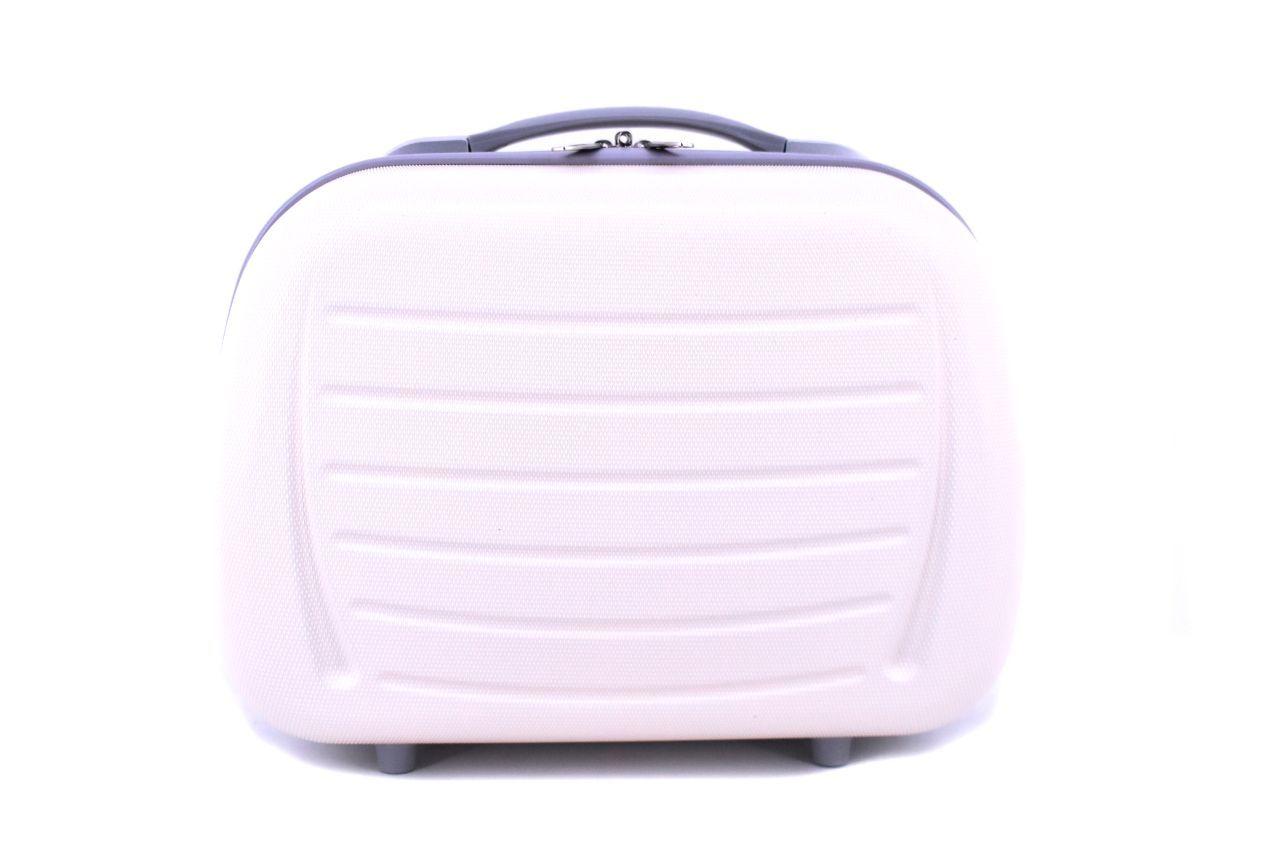 Kosmetický palubní příruční kufr Arteddy - krémová 40878