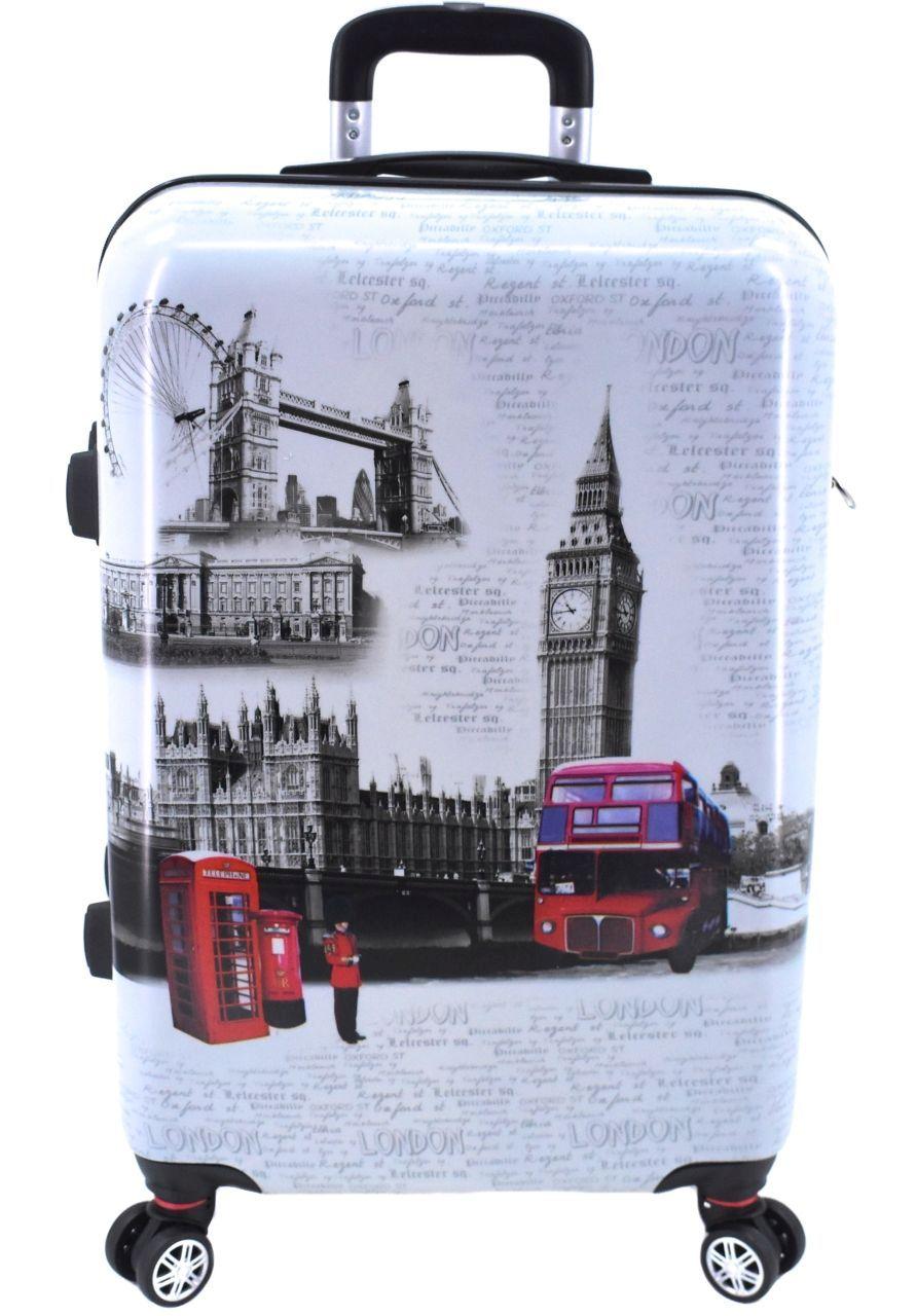 Cestovní skořepina kufr na čtyřech kolečkách - London (L) 33946 (L)