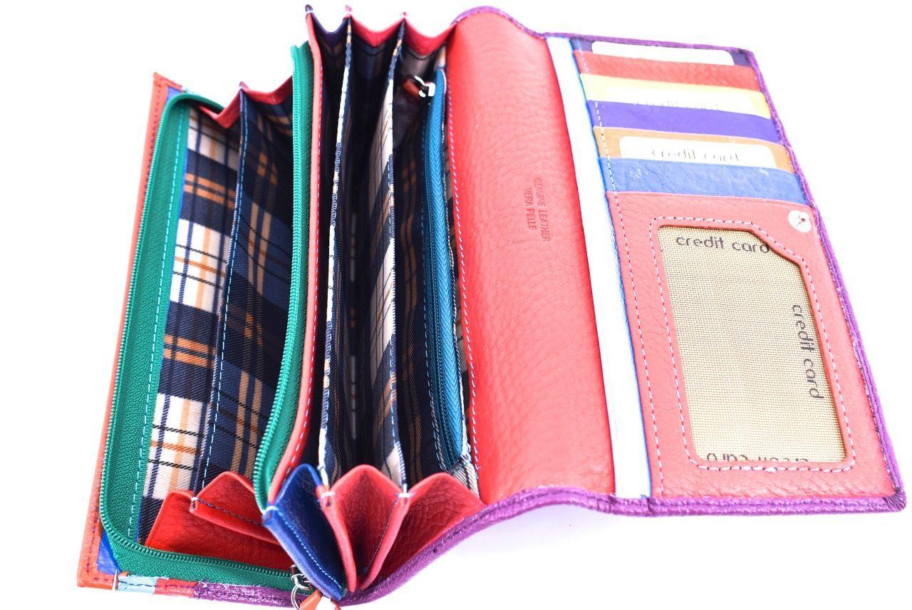 Dámská kožená peněženka Arteddy -hnědá 34573
