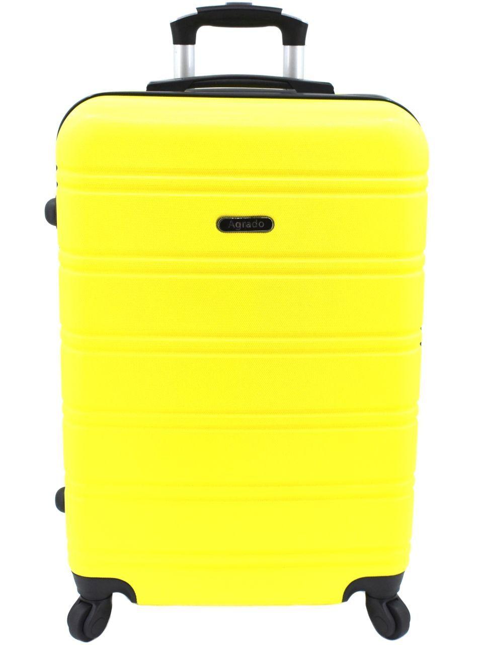 Cestovní palubní kufr skořepinový na čtyřech kolečkách Agrado (M) 60l - žlutá 6019 (M)