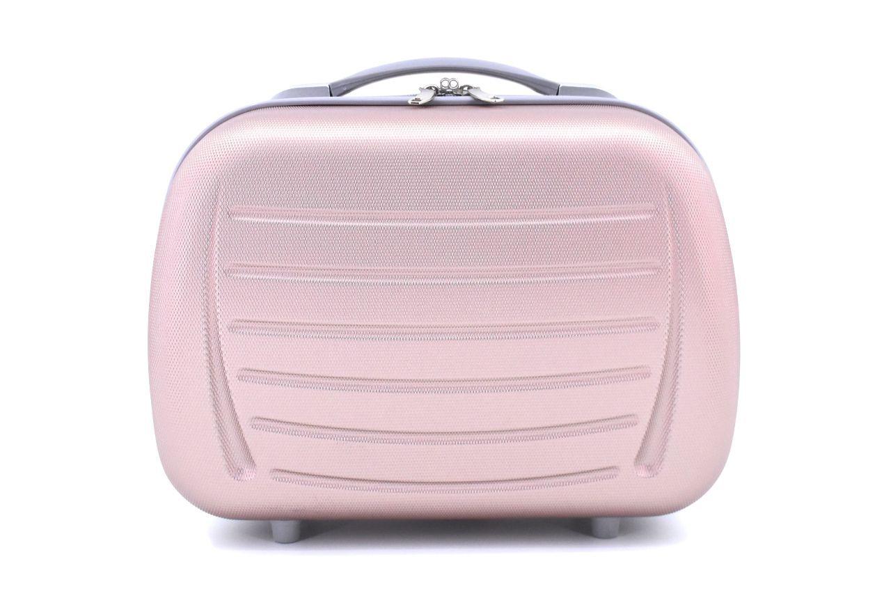 Kosmetický palubní příruční kufr Arteddy - světle růžová 40878