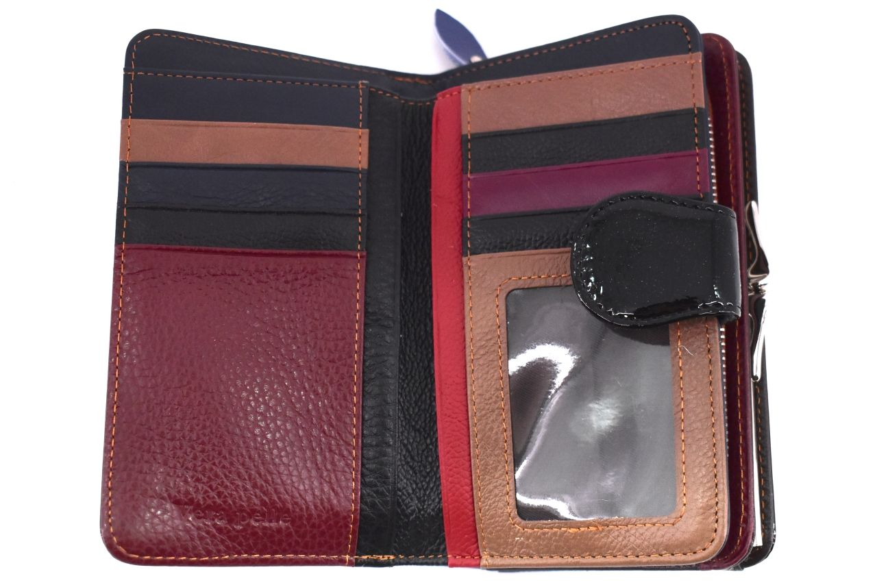 Kožená lakovaná peněženka Klavier - červená