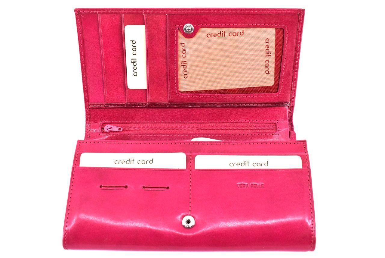 Dámská kožená peněženka Arteddy - tmavě hnědá 42940