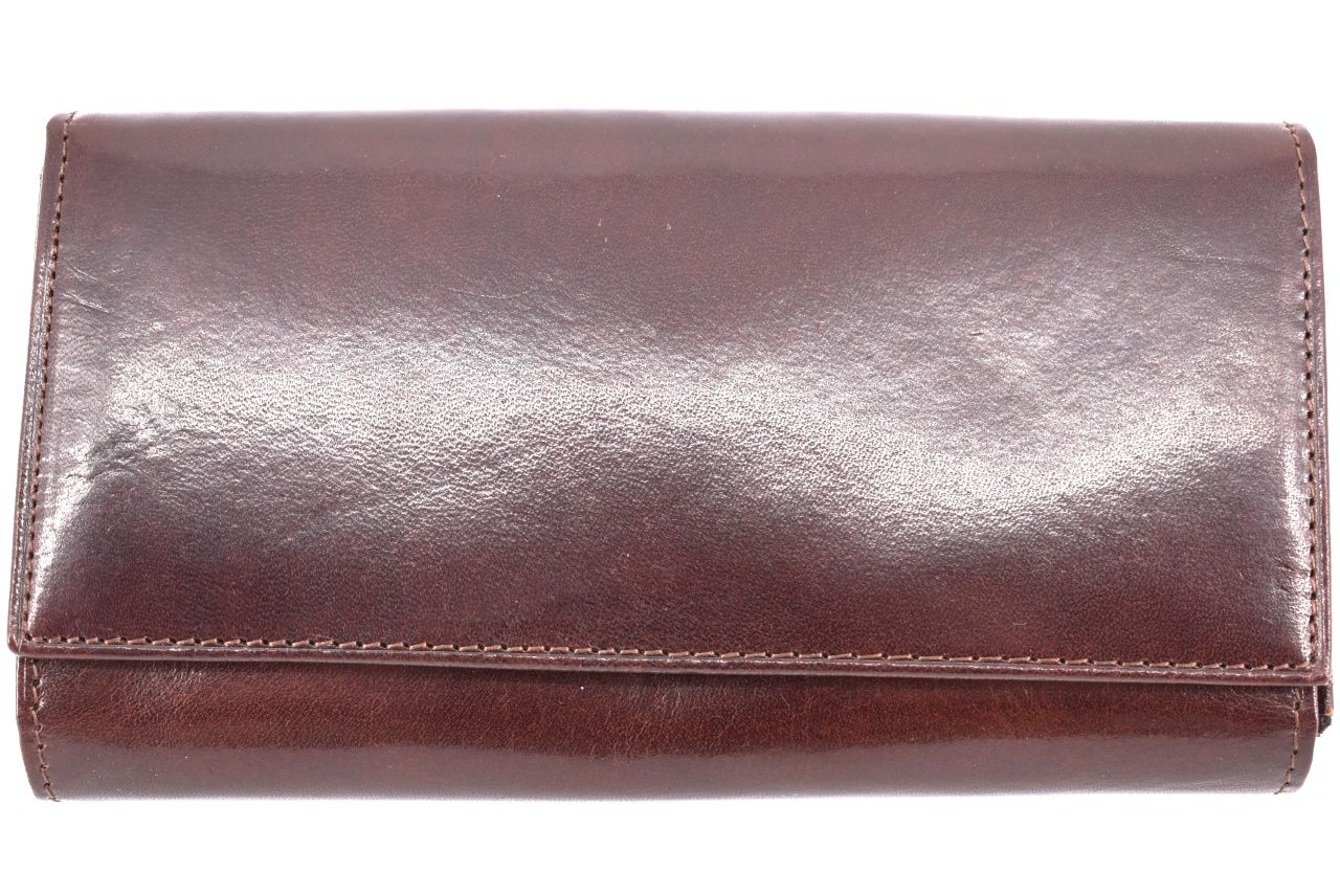 Dámská kožená peněženka tmavě hnědá 39783