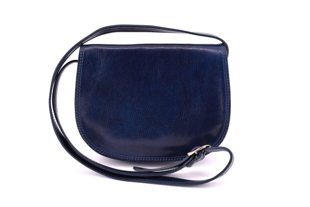 Dámská kožená kabelka crossbody (lovecká) Arteddy - tmavě modrá 29637