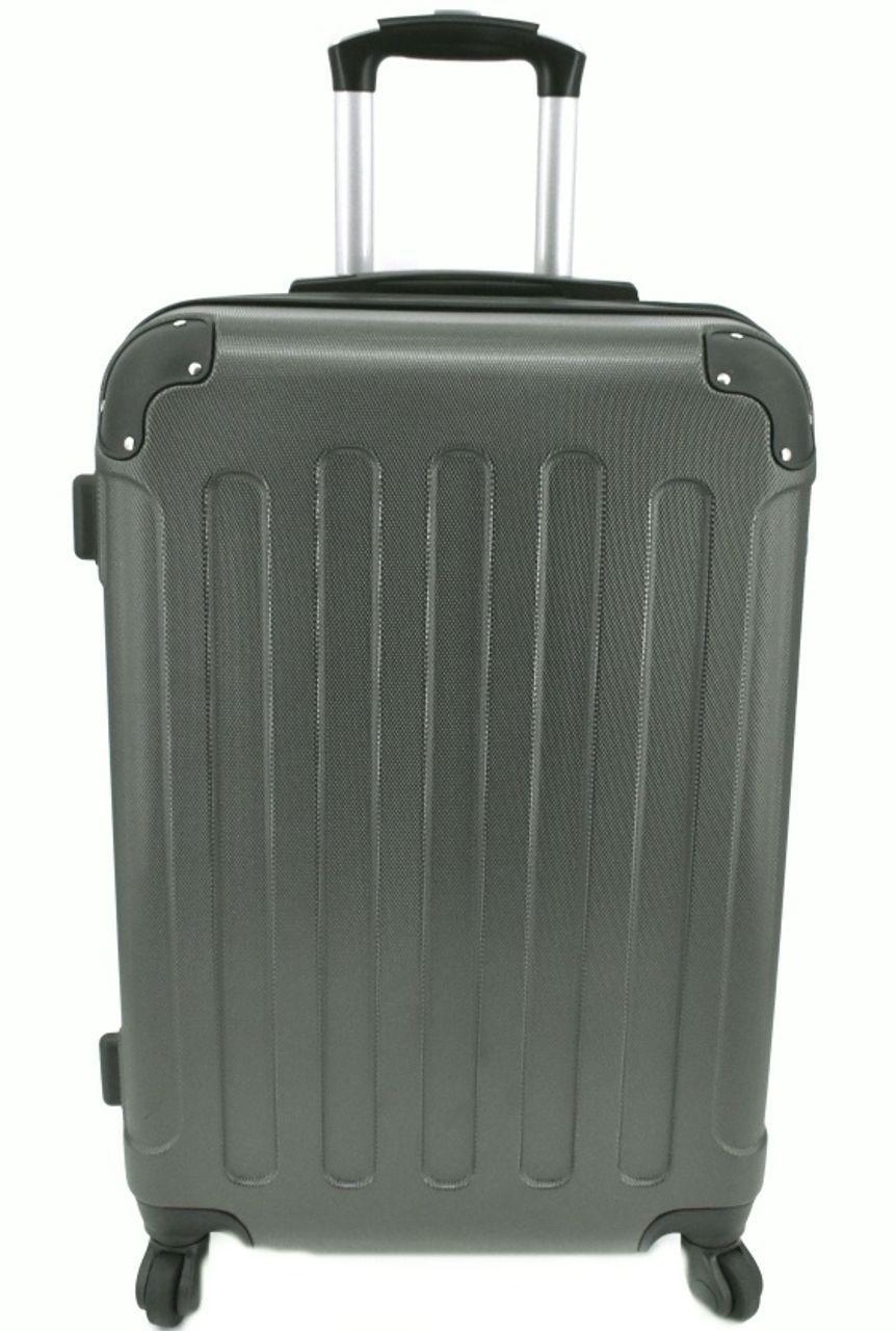 Cestovní palubní kufr na čtyřech kolečkách Arteddy - (S) 40l tmavě šedá 6016 (S)