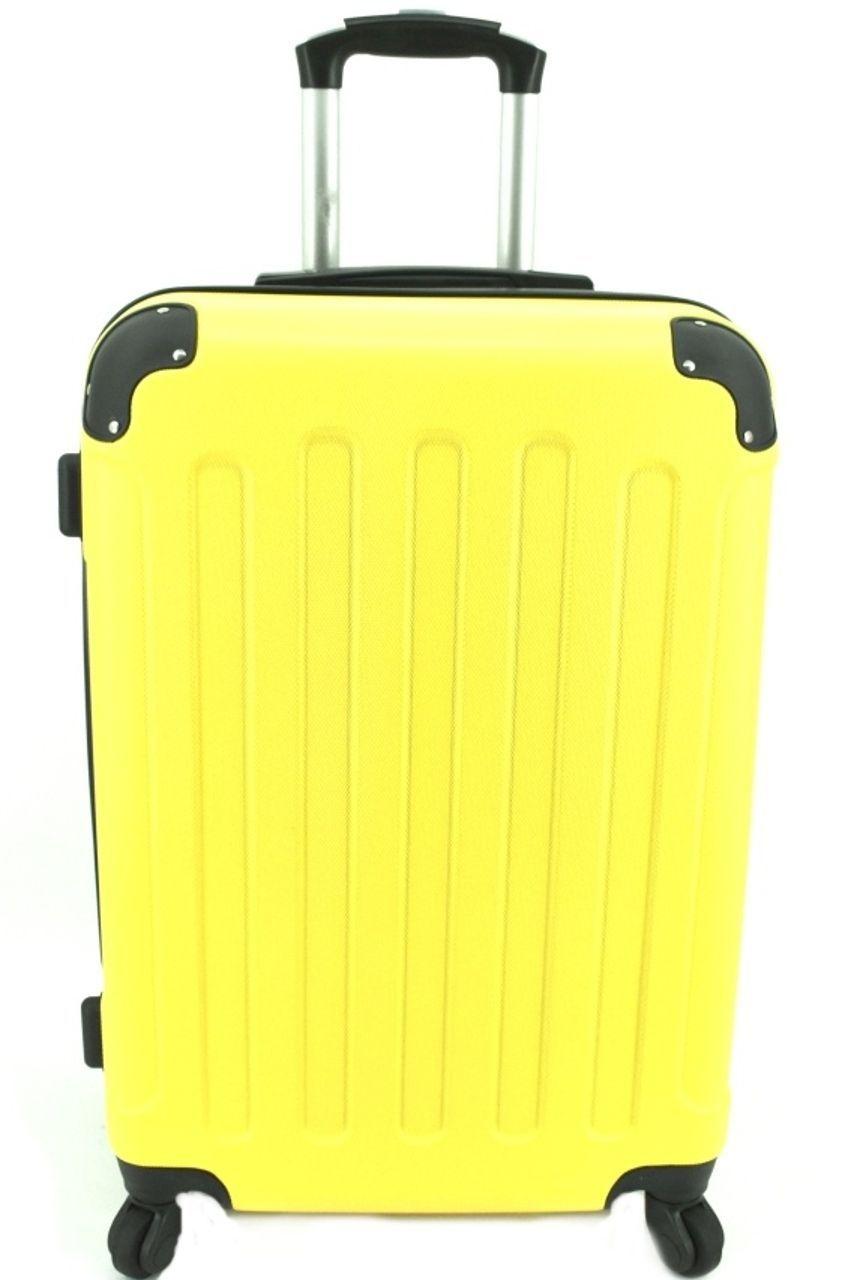 Cestovní palubní kufr na čtyřech kolečkách Arteddy - (S) 40l žlutá 6016 (S)