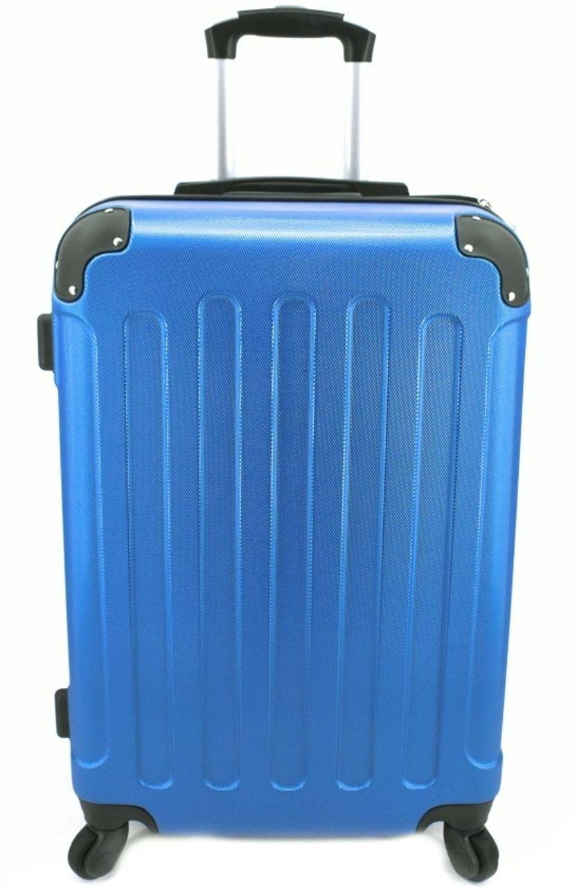Cestovní skořepina kufr na čtyřech kolečkách Arteddy - (L) 90l modrá 6016 (L)