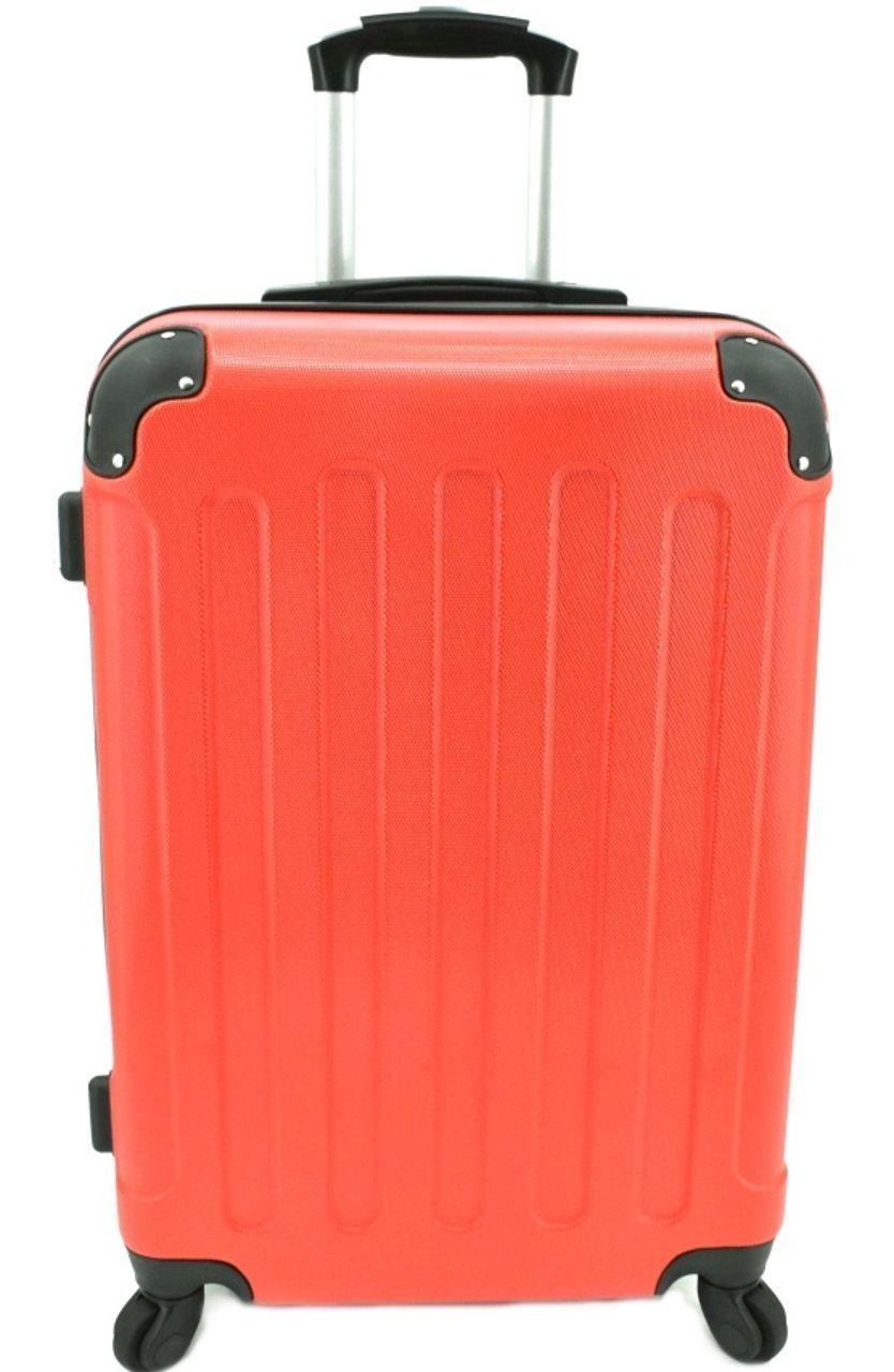 Cestovní skořepina kufr na čtyřech kolečkách Arteddy - (L) 90l červená 6016 (L)
