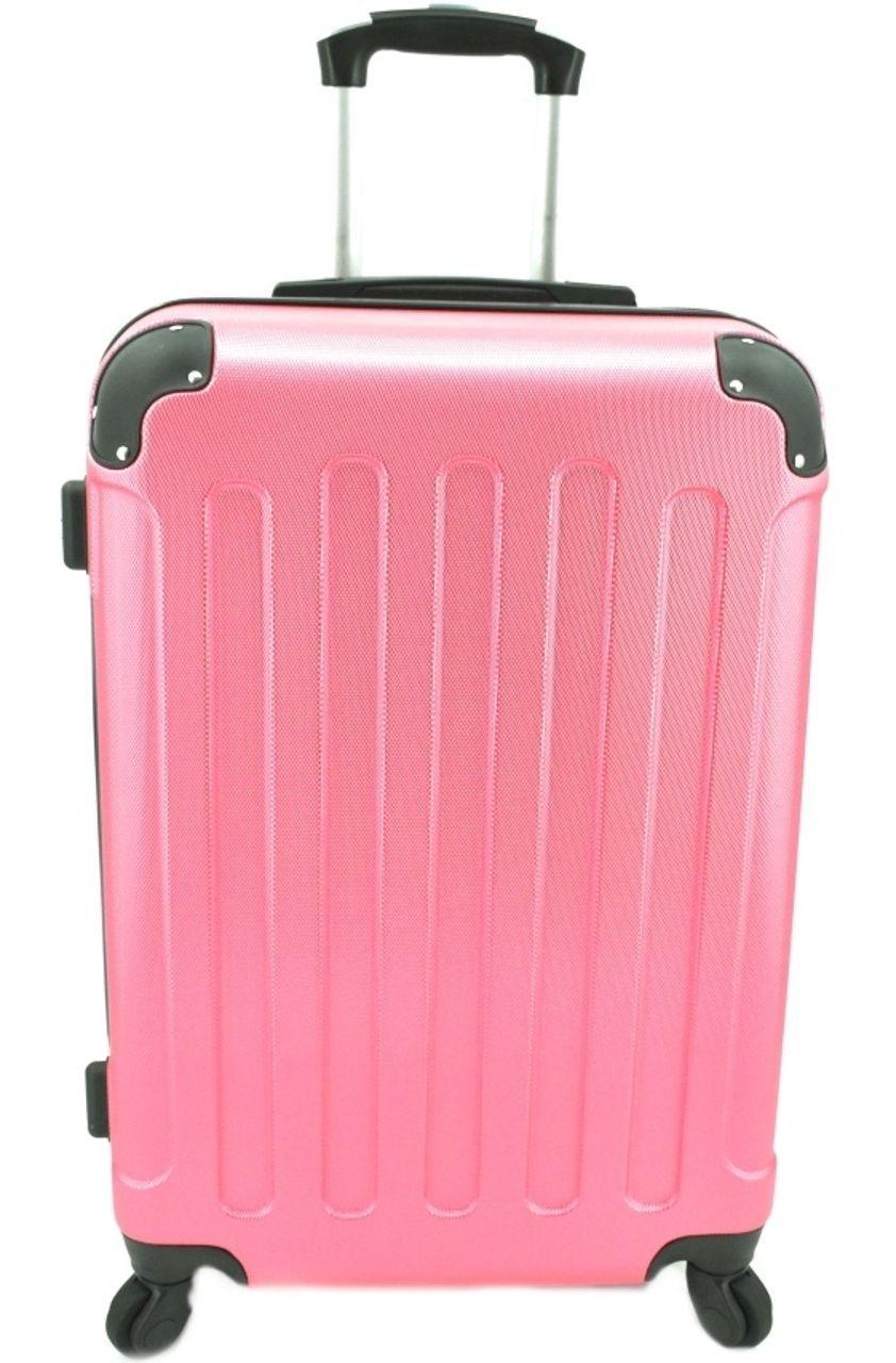 Cestovní skořepina kufr na čtyřech kolečkách Arteddy - (L) 90l růžová 6016 (L)