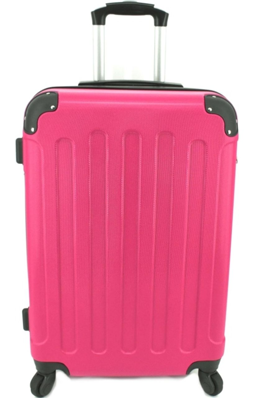 Cestovní skořepina kufr na čtyřech kolečkách Arteddy - (L) 90l fuxia 6016 (L)
