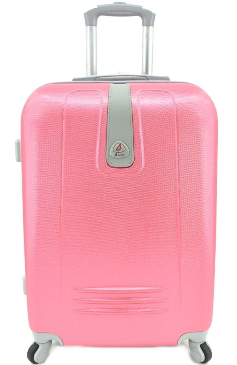 Cestovní palubní kufr Agrado / 4 kolečka - růžová (S) 40l