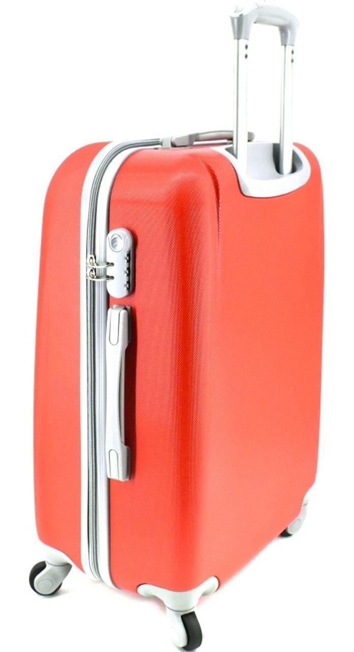 Cestovní kufr Agrado / 4 kolečka - růžová (M) 60l 6168 (M)