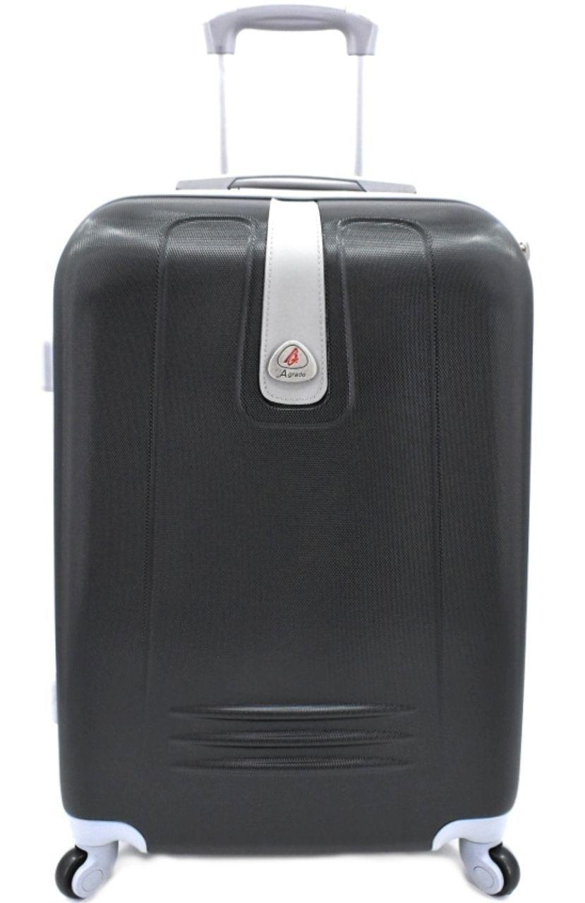 Levně Cestovní kufr Agrado / 4 kolečka - černá (M) 60l