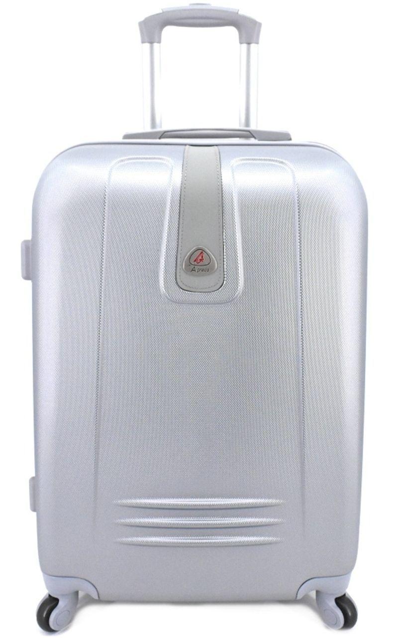 Cestovní kufr Agrado / 4 kolečka - stříbrná (M) 60l 6168 (M)