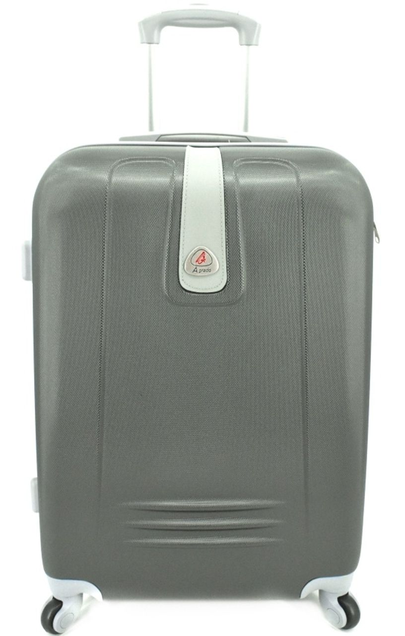 Cestovní kufr Agrado / 4 kolečka - tmavě šedá (M) 60l 6168 (M)