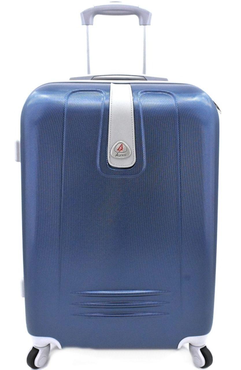 Cestovní kufr Agrado / 4 kolečka - tmavě modrá (M) 60l 6168 (M)