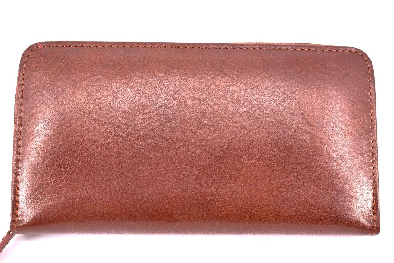 Dámská kožená peněženka hnědá 26788