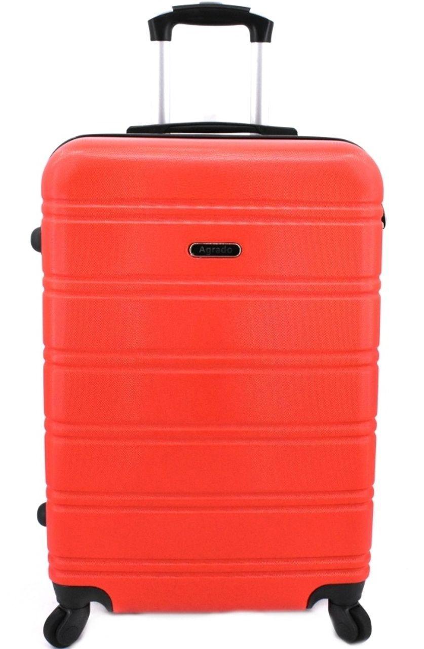 Cestovní palubní kufr skořepinový na čtyřech kolečkách Agrado (S) 40l - červená 6019 (S)