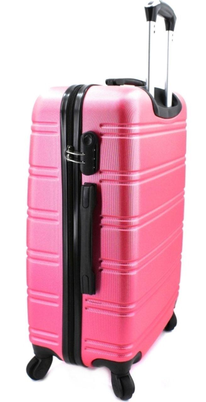 Cestovní kufr skořepinový na čtyřech kolečkách Agrado (M) 60l - červená 6019 (M)