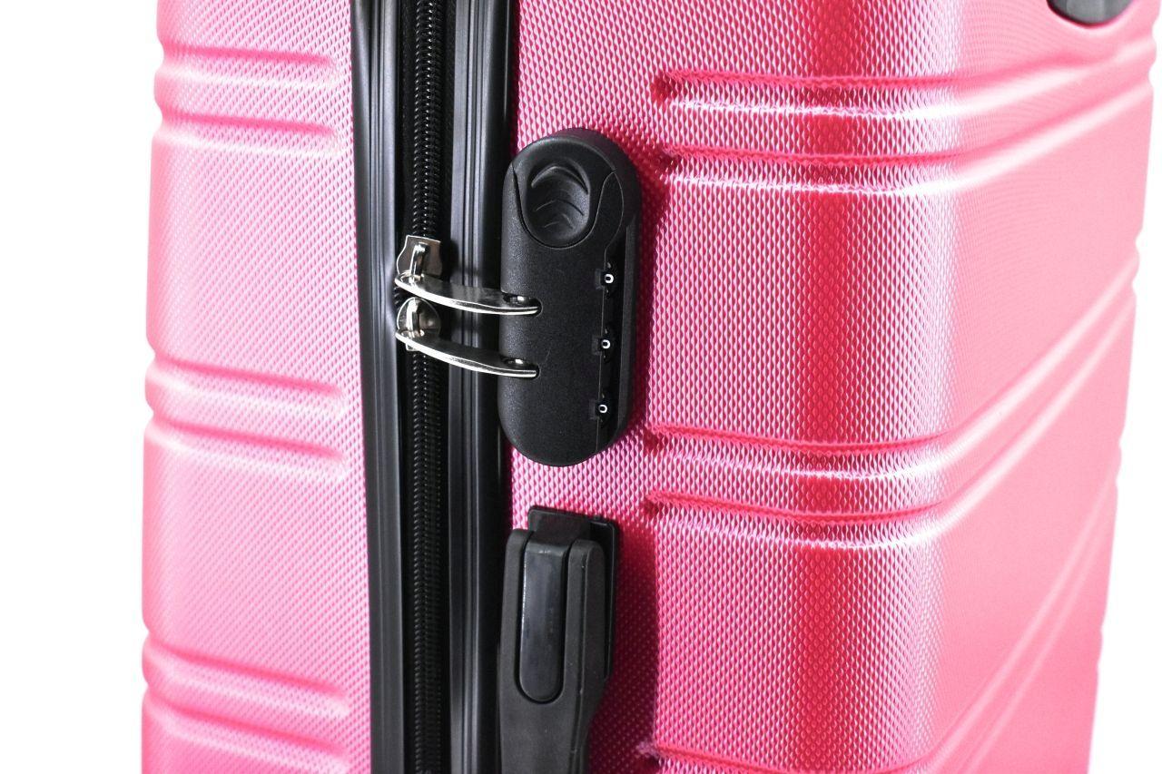 Cestovní kufr skořepinový na čtyřech kolečkách Agrado (L) 90l - černá 6019 (L)