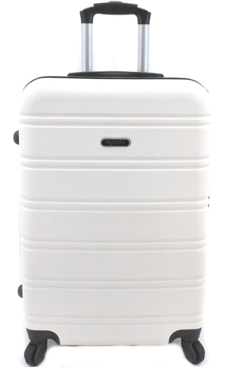 Cestovní kufr skořepinový na čtyřech kolečkách Agrado (L) 90l - krémová 6019 (L)