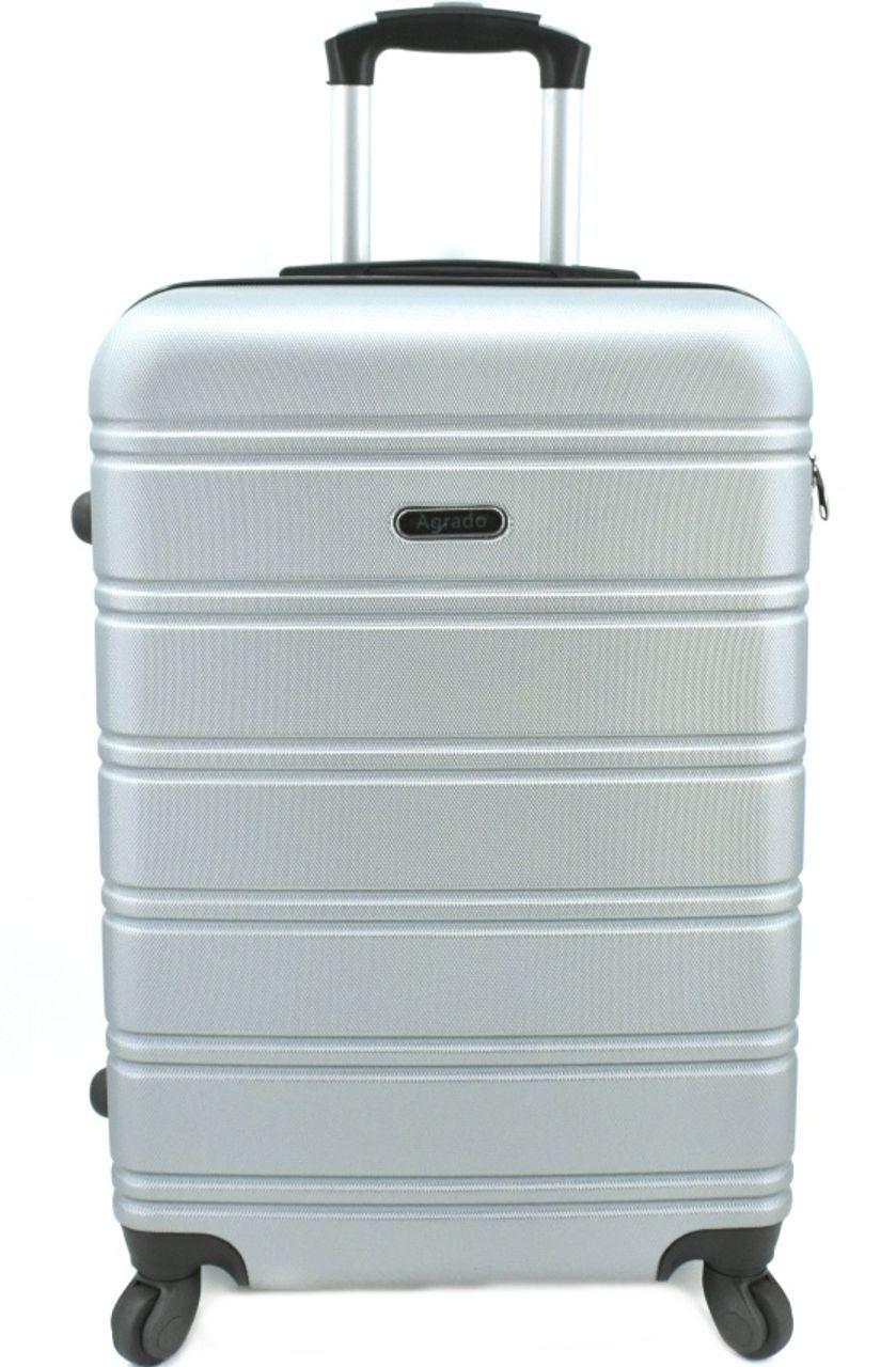 Cestovní kufr skořepinový na čtyřech kolečkách Agrado (L) 90l - stříbrná 6019 (L)