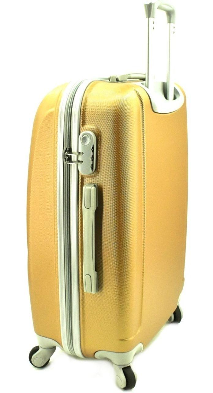 Cestovní palubní kufr skořepinový na čtyřech kolečkách Agrado (S) 40l - světle růžová 6011 (S)