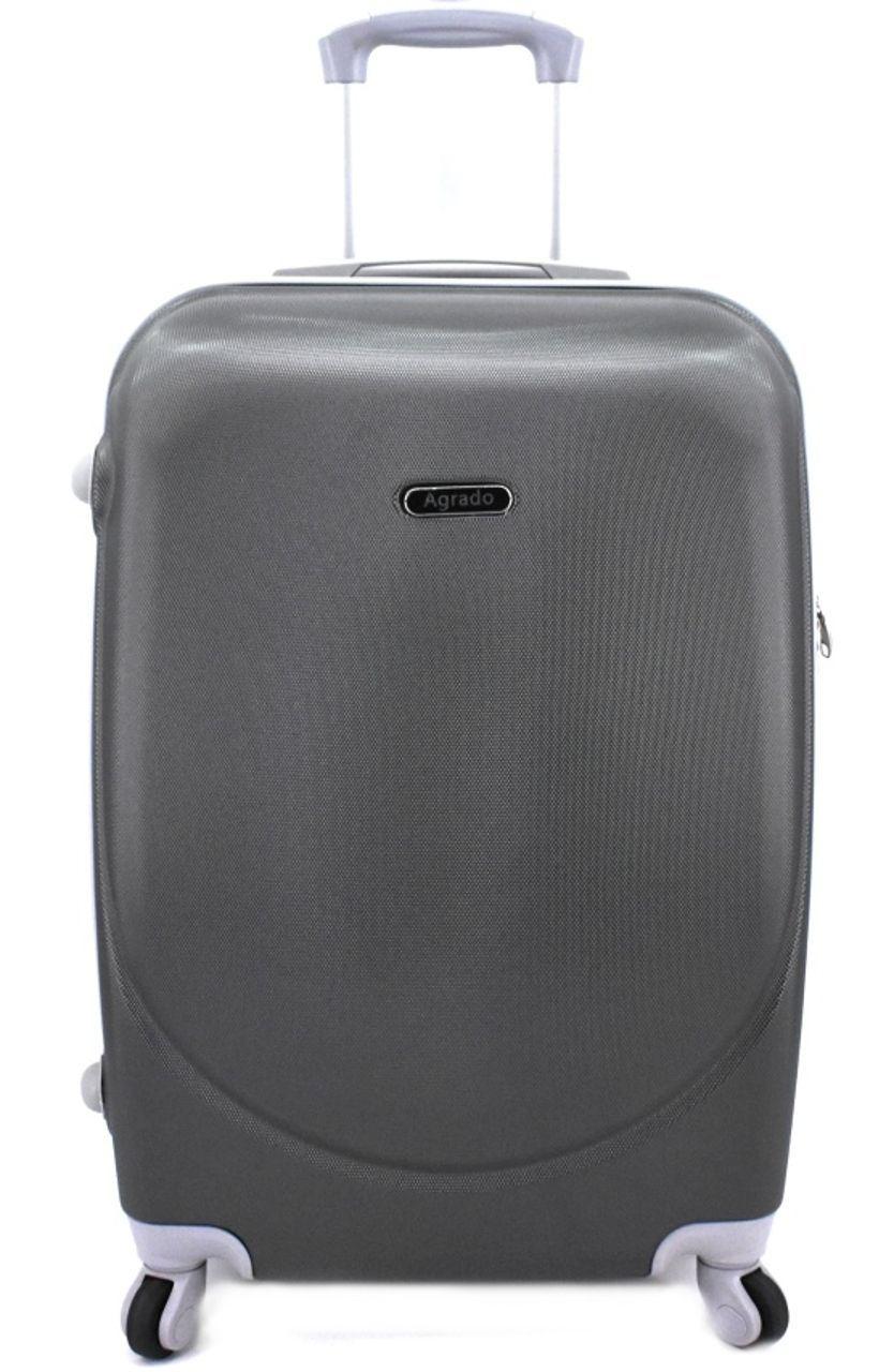 Cestovní palubní kufr skořepinový na čtyřech kolečkách Agrado (S) 40l - tmavě šedá 6011 (S)