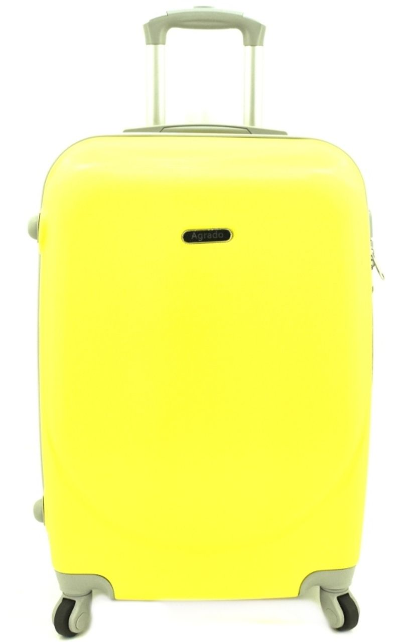 Cestovní palubní kufr skořepinový na čtyřech kolečkách Agrado (S) 40l - žlutá 6011 (S)