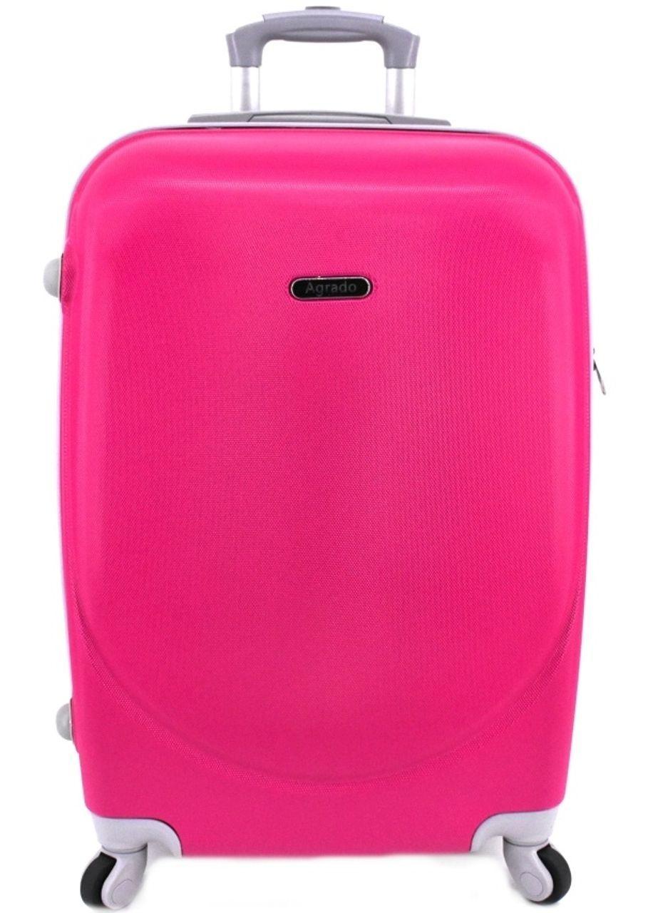 Cestovní palubní kufr skořepinový na čtyřech kolečkách Agrado (S) 40l - fuxia 6011 (S)