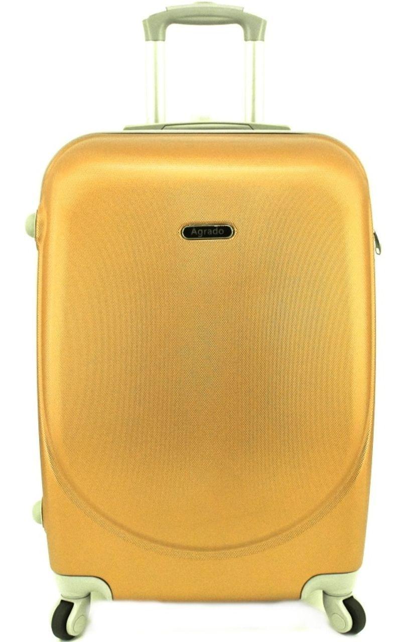Cestovní kufr skořepinový na čtyřech kolečkách Agrado (M) 60l - zlatá 6011 (M)