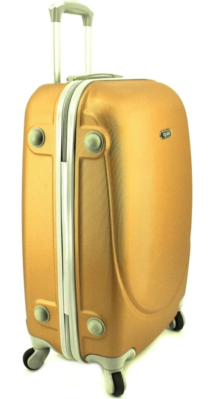 Cestovní kufr skořepinový na čtyřech kolečkách Agrado (M) 60l - žlutá 6011 (M)
