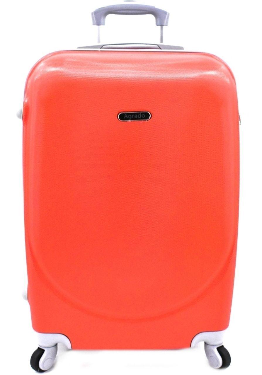 Cestovní kufr skořepinový na čtyřech kolečkách Agrado (M) 60l - červená 6011 (M)