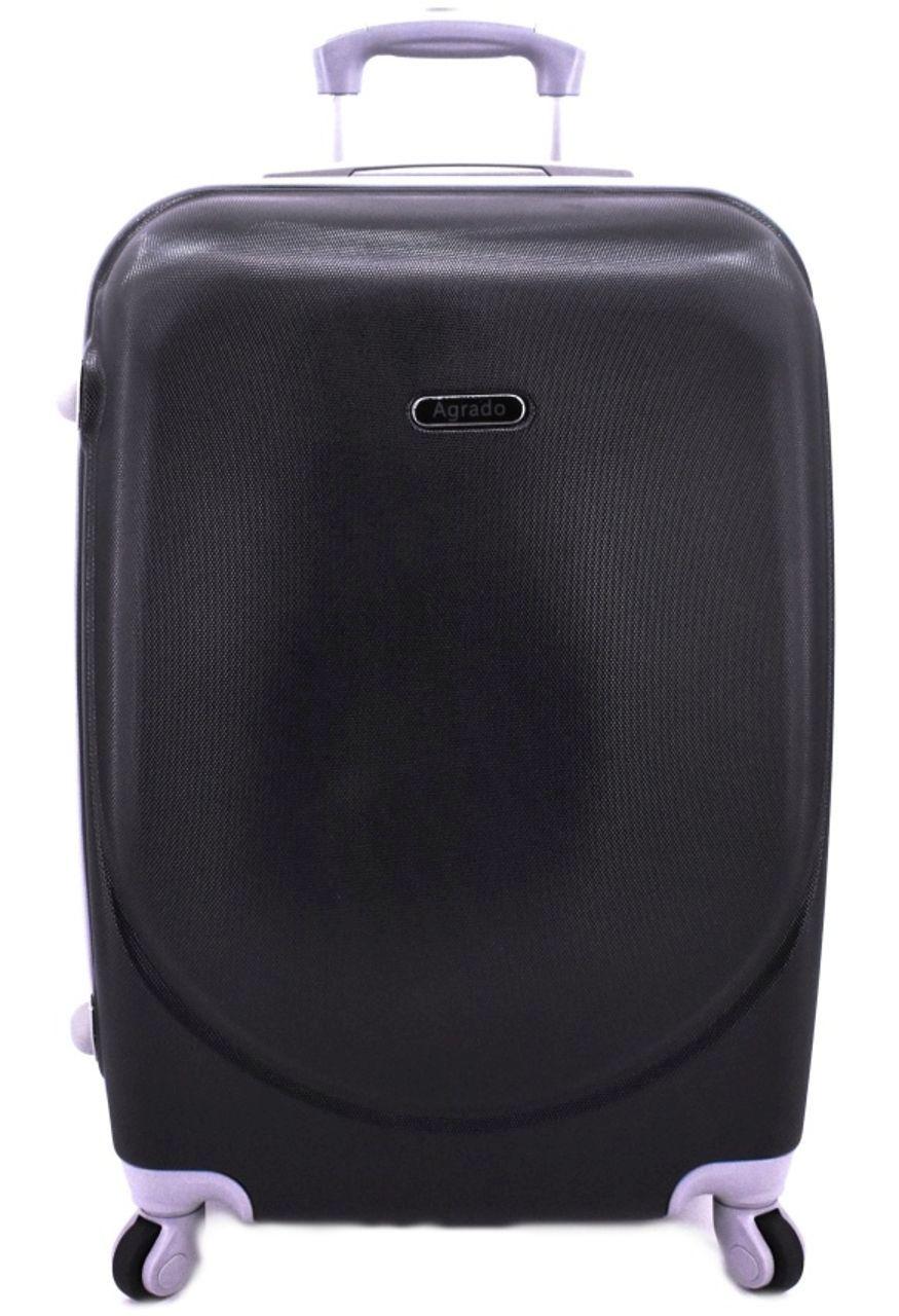 Cestovní kufr skořepinový na čtyřech kolečkách Agrado (M) 60l - černá 6011 (M)