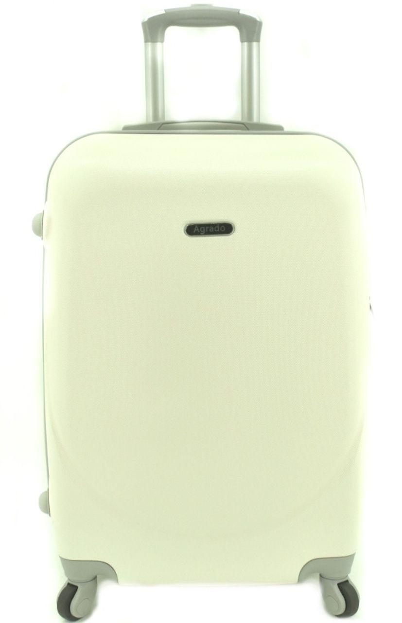 Cestovní kufr skořepinový na čtyřech kolečkách Agrado (M) 60l -krémová 6011 (M)