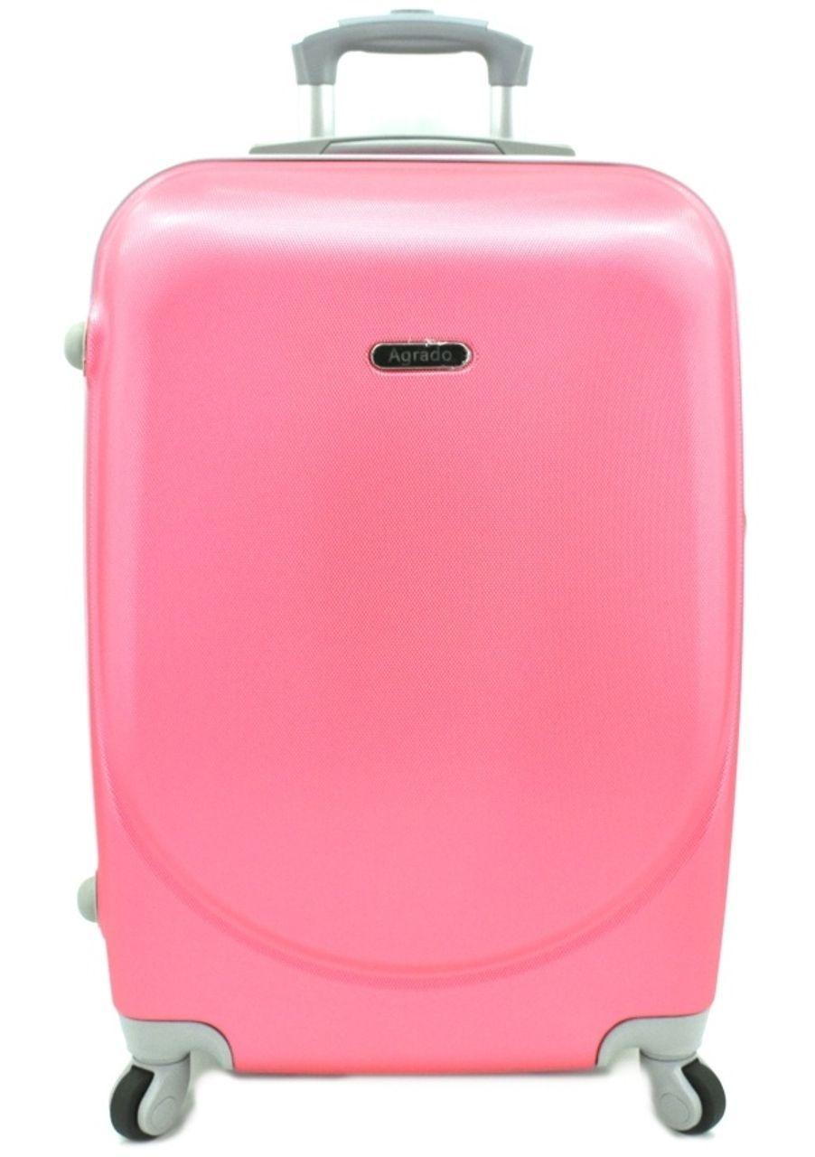 Cestovní kufr skořepinový na čtyřech kolečkách Agrado (M) 60l - růžová 6011 (M)