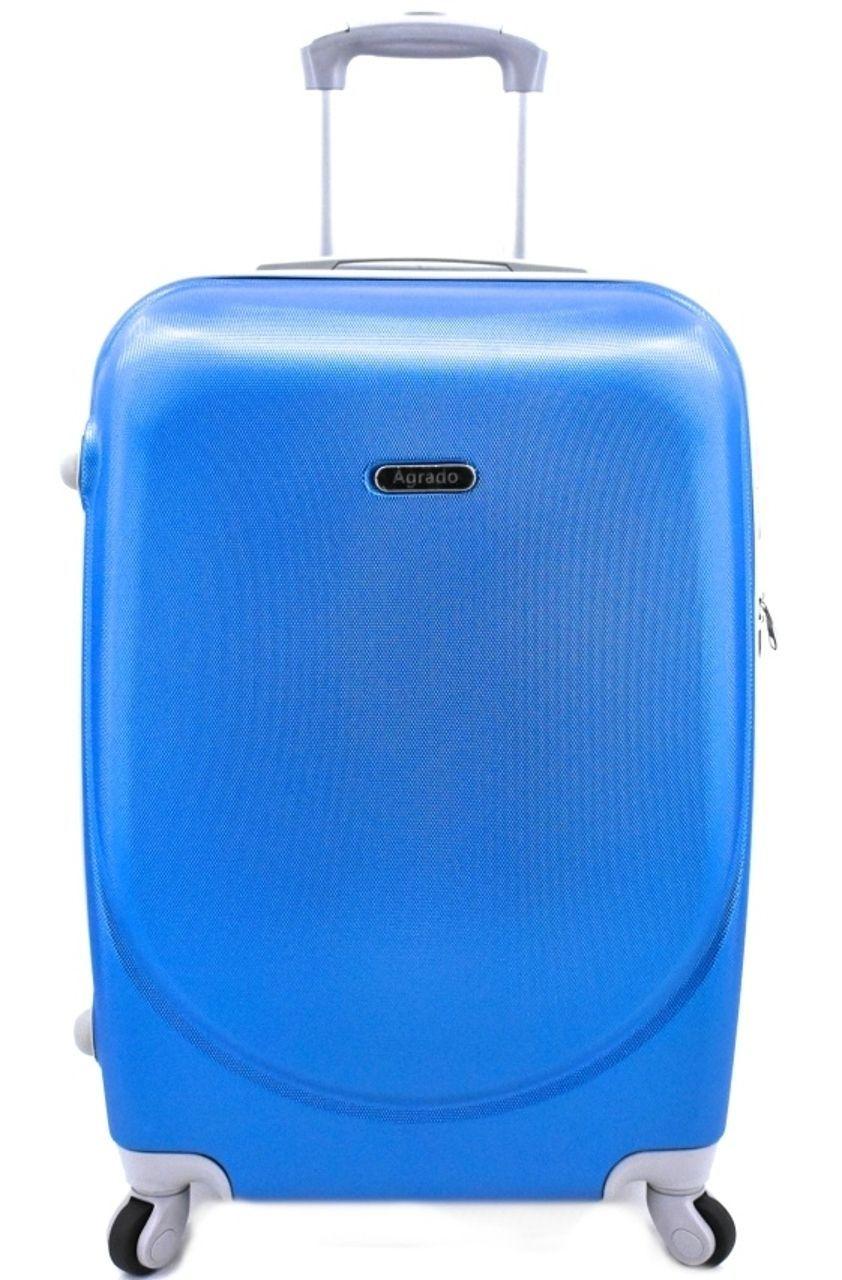 Cestovní kufr skořepinový na čtyřech kolečkách Agrado (M) 60l - modrá 6011 (M)