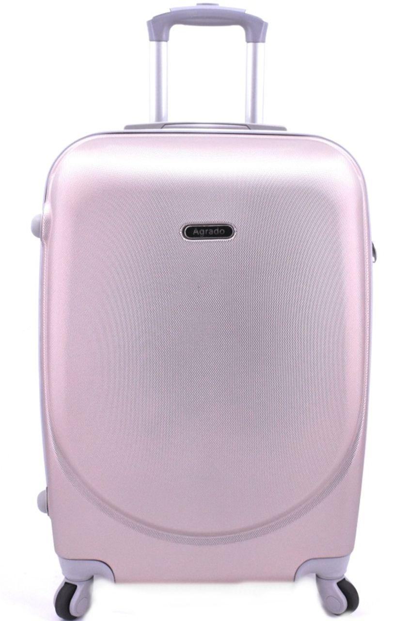 Cestovní kufr skořepinový na čtyřech kolečkách Agrado (M) 60l - světle růžová 6011 (M)