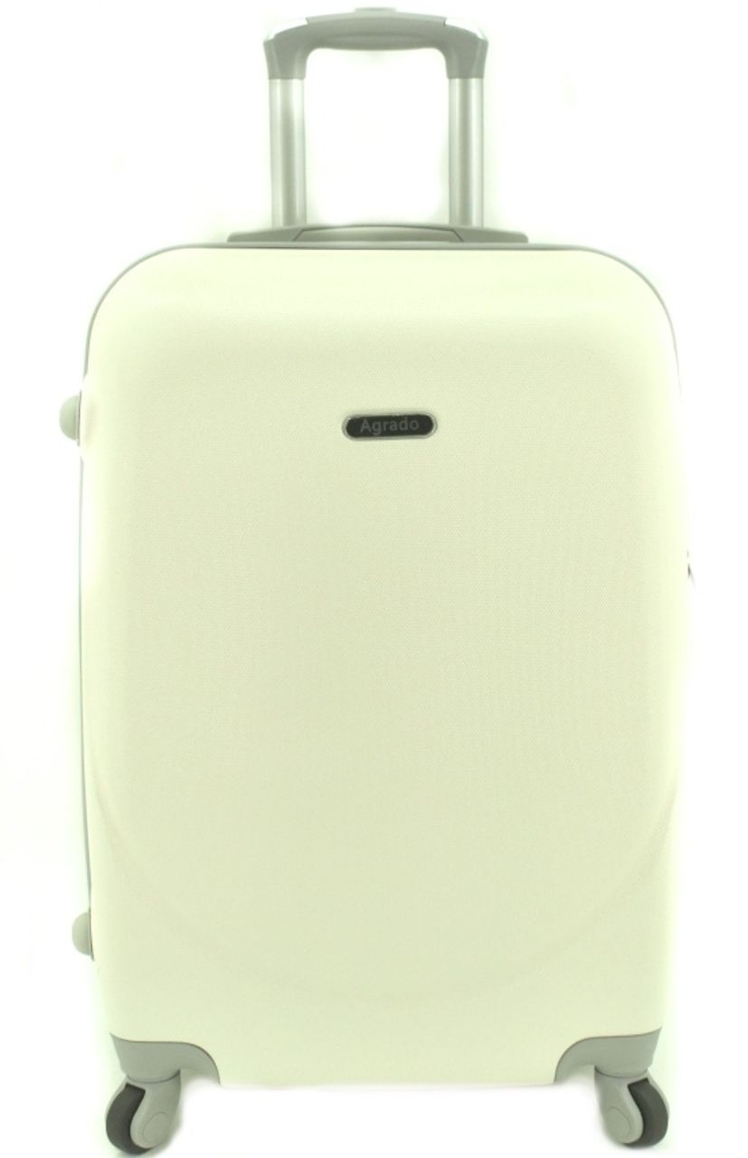 Cestovní kufr skořepinový na čtyřech kolečkách Agrado (L) 90l - krémová 6011 (L)